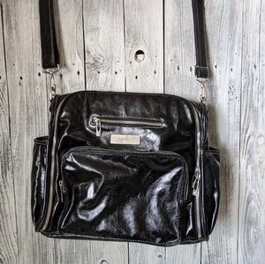JUJUBE Purse Diaper Bag Black Easy Clean Large